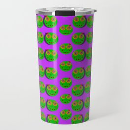 The happy eyes of freedom in polka dot cartoon pop art Travel Mug