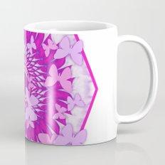 Butterflies and kaleidoscope in pink Mug