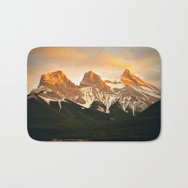 Three Sisters - Golden Peaks Bath Mat