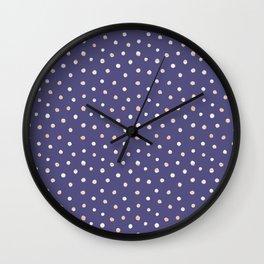 Purple #polka Wall Clock