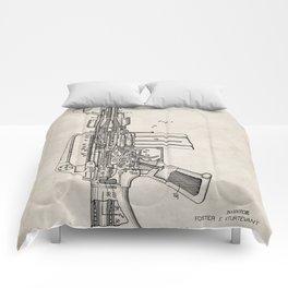 M16 Rifle Patent - Military Rifle Art - Antique Comforters