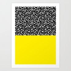 Memphis Black and Yellow 80s Pattern Art Print