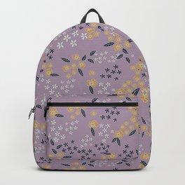 Vintage lilac flower print Backpack