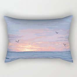 Seagull Sunrise Rectangular Pillow