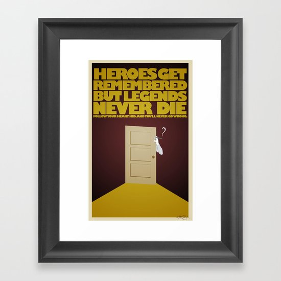 Heroes and Legends Framed Art Print