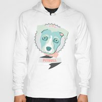 pastel goth Hoodies featuring Pastel Pitbull by Minette Wasserman