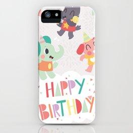 Happy Birthday Party Animals iPhone Case