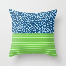 staklo (blue with green) Throw Pillow