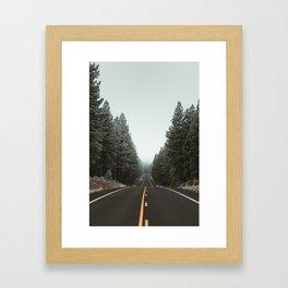 Road to the Fog Framed Art Print