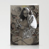 hiphop Stationery Cards featuring Holy Mother of HipHop Blessed Be Thy Beats. by Kamau Mshale