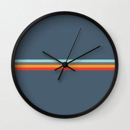 Sedna - Classic Retro Summer Stripes Wall Clock