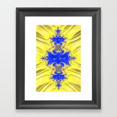 Yellow And Blue Abstract Framed Art Print