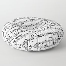 Sheet Music Floor Pillow