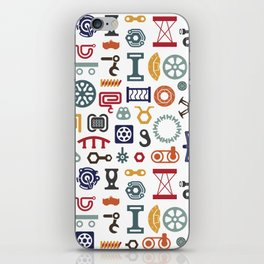 Industrial vector items iPhone Skin