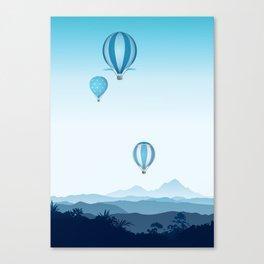 Hot air balloons - blue mountains Canvas Print
