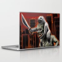 sloths Laptop & iPad Skins featuring Planet Of The Sloths by Chris Moet
