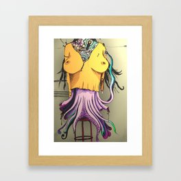 OCTOPUS WOMAN Framed Art Print
