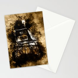 chair at lost place splatter watercolor Stationery Cards