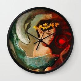 Pisces zodiac tarot card merrill dragon age Wall Clock