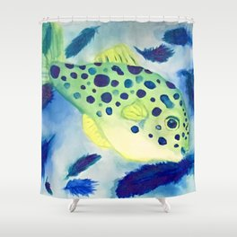 Swimming in a Sea of Feathers Shower Curtain