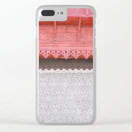 Pink Al Balad Coral House Clear iPhone Case