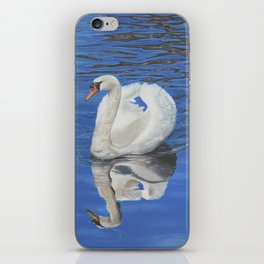 Swan Reflection iPhone Skin
