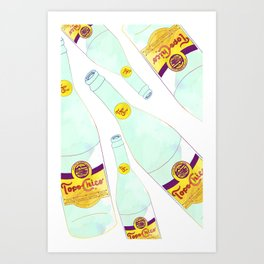 Topo Chico Mexican Sparkling Mineral Water Seltzer Bottle Art Print
