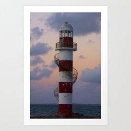 Lighthouse Cancun Art Print