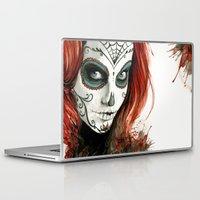 dia de los muertos Laptop & iPad Skins featuring Dia de los Muertos by Elena Tsuya