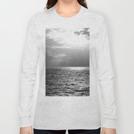 Black and White Sea Long Sleeve T-shirt