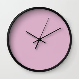 Pink Lavender - Fashion Color Trend Spring/Summer 2018 Wall Clock