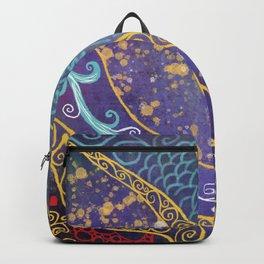 Lovely Art Nouveau art pattern Backpack
