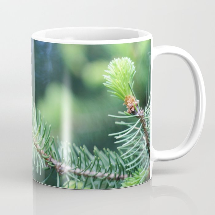 Spruce branch in spring. Coffee Mug