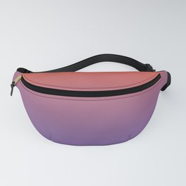 Pantone Living Coral & Chive Blossom Purple Gradient Ombre Blend, Soft Horizontal Line Fanny Pack