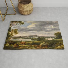"""John Constable """"Dedham Vale with the River Stour in Flood"""" Rug"""