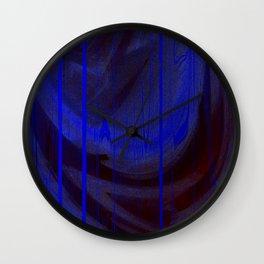 blue matrix Wall Clock