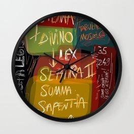 Graffiti Street Art Systema Divino Lex  Wall Clock