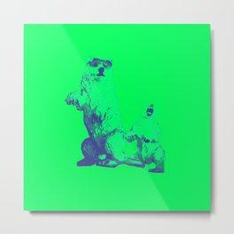 Ours Republique green Metal Print