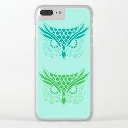 Owl Tribe II Clear iPhone Case