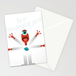 Crazy Alien Is it Halloween Yet Stationery Cards