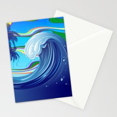 Sea Ocean big Wave Stationery Cards