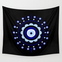 Evil Eye Flower Burst Wall Tapestry