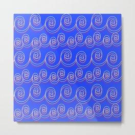 swirlies Metal Print