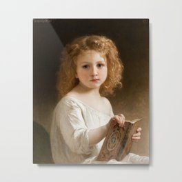 The Story Book by William-Adolphe Bouguereau, 1877 Metal Print