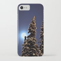finland iPhone & iPod Cases featuring Moonlight in Lapland, Finland by Guna Andersone & Mario Raats - G&M Studi