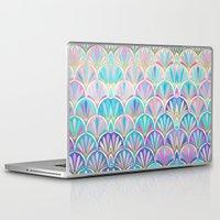 deco Laptop & iPad Skins featuring Glamorous Twenties Art Deco Pastel Pattern by micklyn