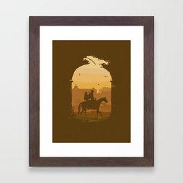 Joel & Ellie University Framed Art Print