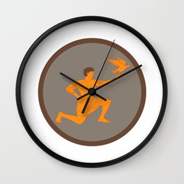 Tagaloa Releasing Plover Bird Circle Retro Wall Clock