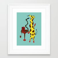 dance Framed Art Prints featuring Dance by Anna Shell
