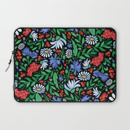 Abstract floral background Laptop Sleeve